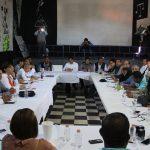 REUNION DE AUTORIDADES MUNICIPALES CON DIVERSAS DEPENDENCIAS DEL GOBIERNO DEL ESTADO