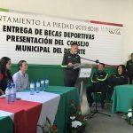 ENTREGAN BECAS DEPORTIVAS Y PRESENTAN AL CONSEJO MUNICIPAL DEL DEPORTE