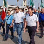 PRESIDENTE MUNICIPAL ASISTE AL DESFILE DE LA COMUNIDAD DE NUEVO PROGRESO