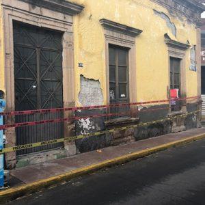 CASA PATRIMONIO HISTÓRICO DE LA PIEDAD CON DAÑOS EN SU ESTRUCTURA